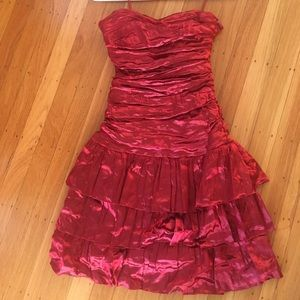 Nicole Miller Red Shiny Dress- New! Size 4